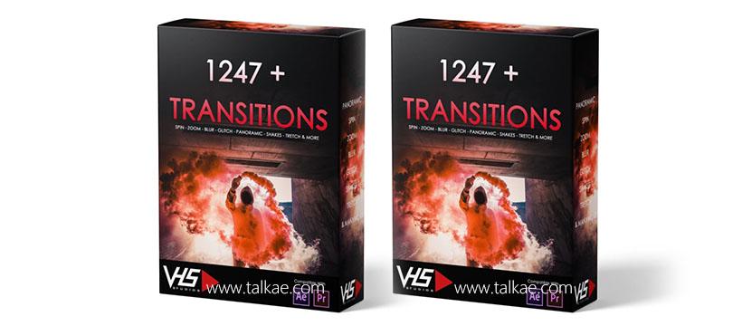 PR转场预设-VHS Studio - VHS 1247+ Transitions Package 转场过渡预设包 + 使用教程 PR预设-第1张