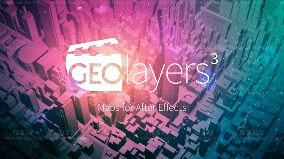 GEOlayers 3 v1.0.0.219 for After Effects 世界地图位置路径动画制作AE扩展 AE扩展-第1张