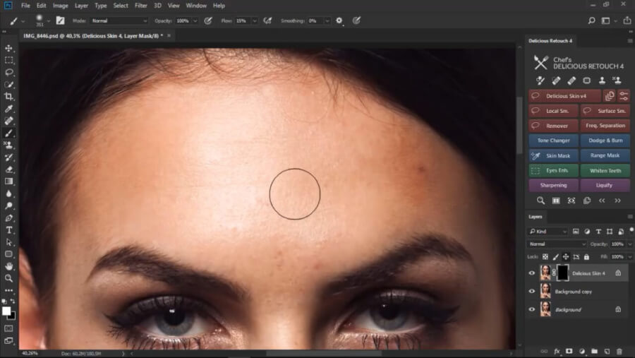 Delicious Retouch V4.1.0 – Photoshop人像磨皮美容插件 AE插件-第5张