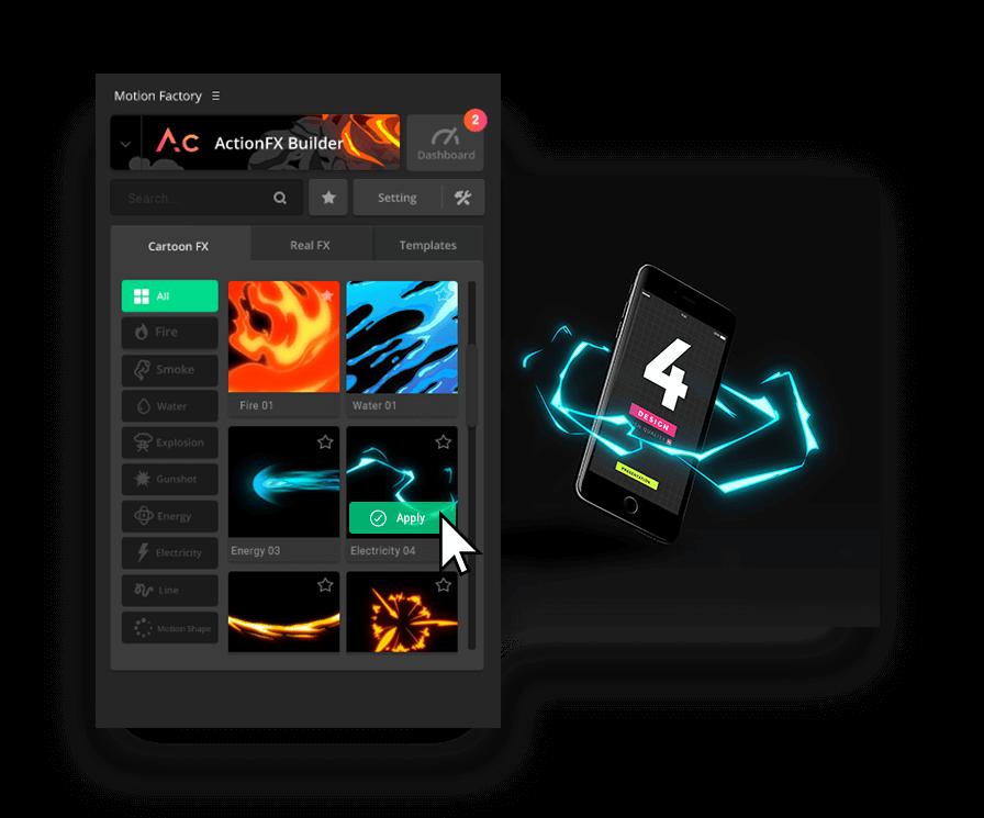 Motion Factory v2.42 AE扩展|小白也能做MG特效动画的AE扩展工具 AE扩展-第2张